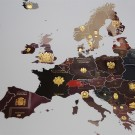 Passport Map, Europe, A2 poster print
