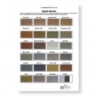 Roberson Liquid Metal Colour Chart