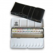 Schmincke Watercolour Set in Leather Case