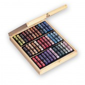 Sennelier Light Wooden Box 36 Assorted pastels