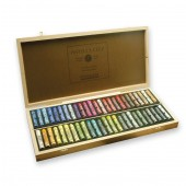 Sennelier Dark Wooden Box 50 Assorted pastels