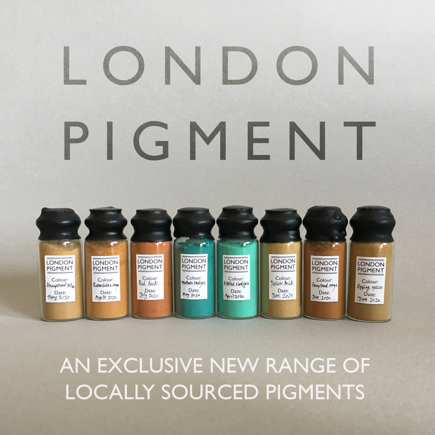 A new range of locally sourced pigments from London.