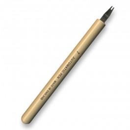 Border stroke, No.7 Automatic pen, made in England.