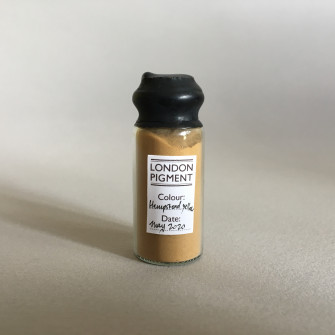 Hampstead Heath Yellow Ochre in a 20 ml glass vial, sealed with wax.