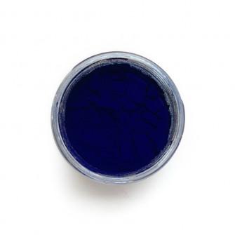 Prussian Blue pigment in a 15ml jar.