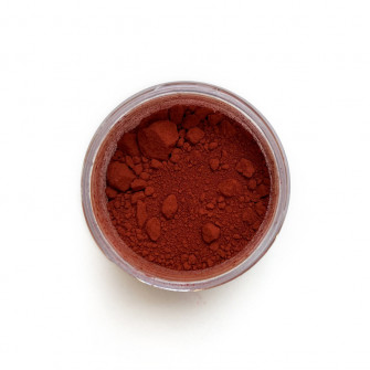 Red Ochre pigment in a 15ml jar.
