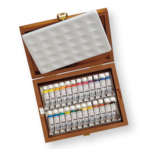 Schmincke Horadam Box 24 X 5ml Tubes Watercolour Sets