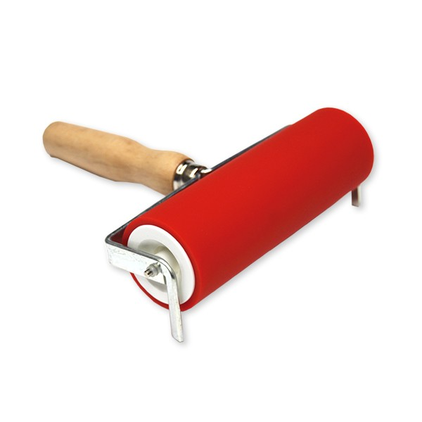 Red Rubber Rollers Diameter 50mm Rollers Printmaking