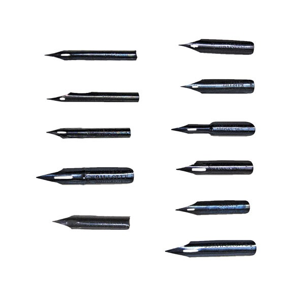 Gillot nibs dip pens nibs and holders drawing Drawing with calligraphy pens
