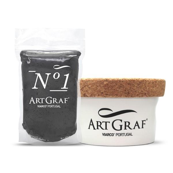 Artgraf No 1 Graphite Putty In Ceramic Jar Watercolour