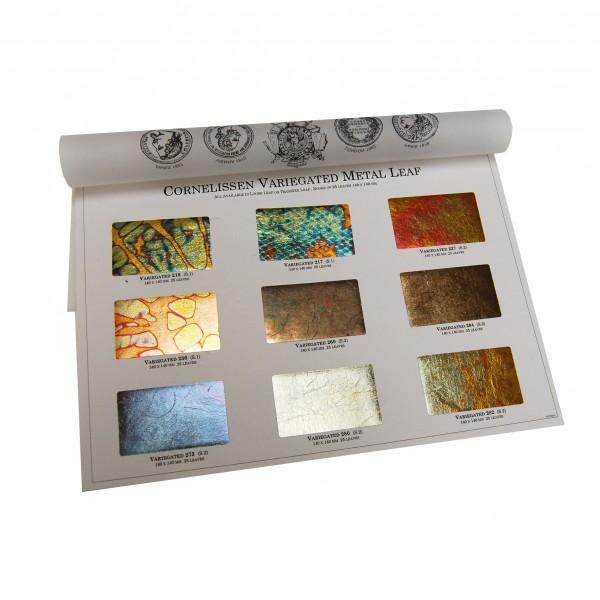 Variegated Leaf Original Sample Chart - Metal & Variegated Leaf