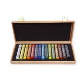 Rembrandt Beechwood Box 15 Assorted Pastels