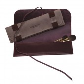 Leather Fitzrovia Pencil and Brush Case