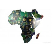 Passport Map, Africa, A2 poster print