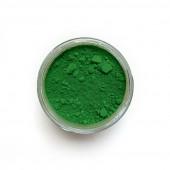 Cadmium Green pigment in a 15ml jar.
