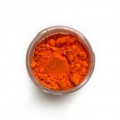 Cadmium Yellow Orange pigment in a 15ml jar.