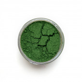 Chromium Oxide pigment in a 15ml jar.