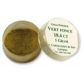 Cornelissen Gold Powder 1 g Vert Fonce 18.4 Carat
