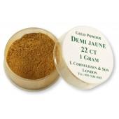 Cornelissen Gold Powder 1 g Demi Jaune 22 Carat