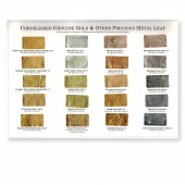 Cornelissen Gold Leaf Colour Chart - 80 and 85