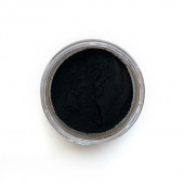 Ivory Black pigment in a 15ml jar.