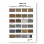 Roberson Liquid Metal Original Colour Chart