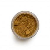 Raw Sienna pigment in a 15ml jar.