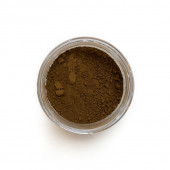 Raw Umber pigment in a 15ml jar.