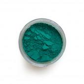 Viridian Green pigment in a 15ml jar.